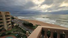 Ocean View from Balcony in Umdloti GFHD - stock footage