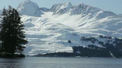 Port of Valdez Pan w audio Stock Footage