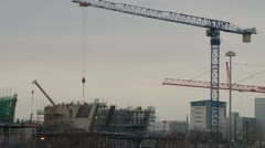 Quayside Construction Stock Footage
