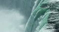 Niagara Waterfall closeup Stock Footage
