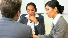 Asian Chinese Businesswoman Informal Team Meeting  - stock footage