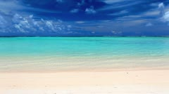Waves on a lagoon and tropical beach Stock Footage