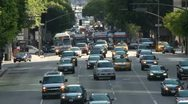 Stock Video Footage of Time Lapse of Busy City Street in Downtown Los Angeles.  Daytime