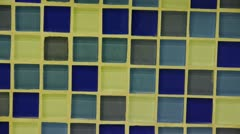 Panoramic of Mosaic wall. Stock Footage