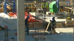 Construction site tight, Calgary International Airport, #3 Stock Footage