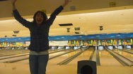 Stock Video Footage of Fun at the Bowling Alley