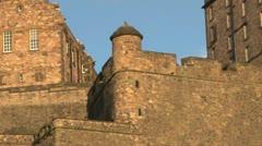 Edinburgh Castle in Sunshine Stock Footage