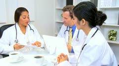 Multi Ethnic Medical Team Meeting  Stock Footage