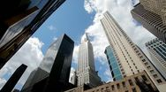 Stock Video Footage of New York City Chrysler building skyscrapers
