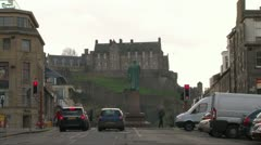 New Town and Castle Stock Footage