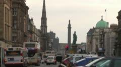 Edinburgh George Street Stock Footage