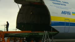 Aircraft, Antonov AN225 zoom back Stock Footage