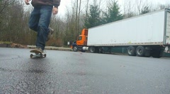 Skateboard Ride By Stock Footage