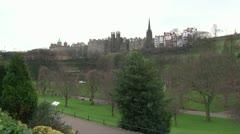 West Princes Street Gardens Stock Footage