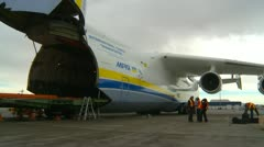 Aircraft, Antonov AN225 wide shot Stock Footage