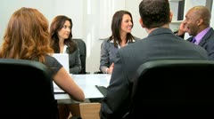 Stock Video Footage of Successful Multi Ethnic Business Team Congratulations