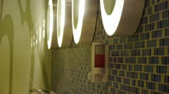 Luxurious faucets toilets,Mosaic. Stock Footage