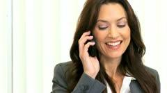 Portrait Successful Caucasian Businesswoman Close Up  Stock Footage