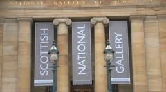 Scottish National Gallery Stock Footage
