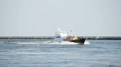 Pilot Tug Boat Miami Stock Footage