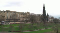 Princes Street Gardens Stock Footage
