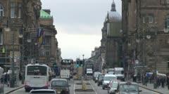 Edinburgh Traffic Stock Footage
