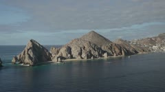 el arco los cabos lands end beach baja california sur - stock footage