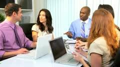 African American Businessman Advertising Team Meeting  Stock Footage