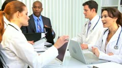 Hospital Doctors Meeting Financial Consultant  - stock footage