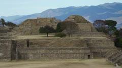 Mayan ruins monte alban oaxaca mexico Stock Footage