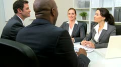 Multi Ethnic Legal Team with Clients  - stock footage