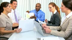 African American Businessman Advertising Team Meeting  - stock footage
