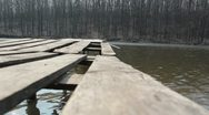 Wooden pier Stock Footage