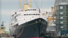 Royal Yacht Britannia Stock Footage