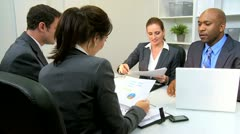 Business Team Meeting Banking Executives  Stock Footage