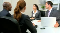 Business People Concluding Meeting  Stock Footage
