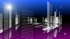 Concert Stage 3D Sound graphic equalizer 10 Stock Footage