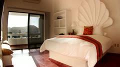 Luxury boutique hotel room mexico baja california sur Stock Footage