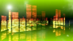 Concert Stage 3D Sound graphic equalizer 13 Stock Footage