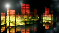 Concert Stage 3D Sound graphic equalizer ( Series 4-Version From 1 to 33 ) - stock footage