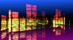 Concert Stage 3D Sound graphic equalizer 9 - stock footage