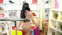 Girlfriends Shopping Chic Boutique  Stock Footage