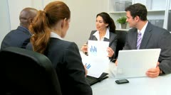 Meeting Budget Committee Young Business Executives  Stock Footage