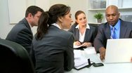 Young Executives Presenting Business Plan  Stock Footage