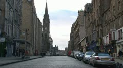 Royal Mile Canongate - stock footage