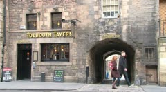 Edinburgh Tolbooth Stock Footage
