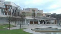 Scottish Parliament Stock Footage