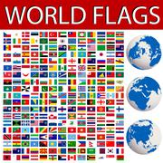 world flags - stock illustration