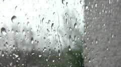 Raindrops on a Window 001 Stock Footage