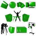 Multimedia icons set Stock Illustration